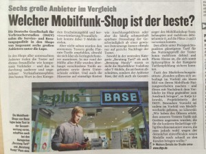 Mobilfunkshops Berliner Kurier 20.06.2013
