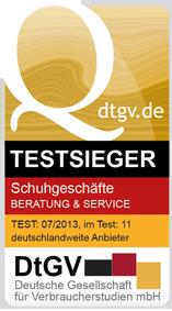 c9de848869be27 Nationaler Test von Beratung und Service in Schuhgeschäften - DtGV