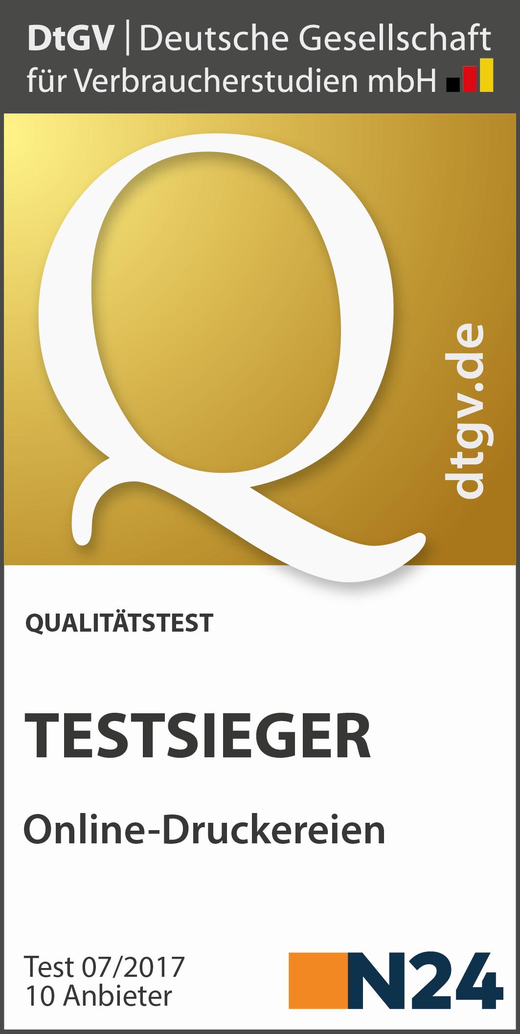 Test Online Druckereien 2017 Dtgv