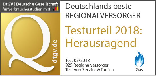 Regionalversorger Gas 2018