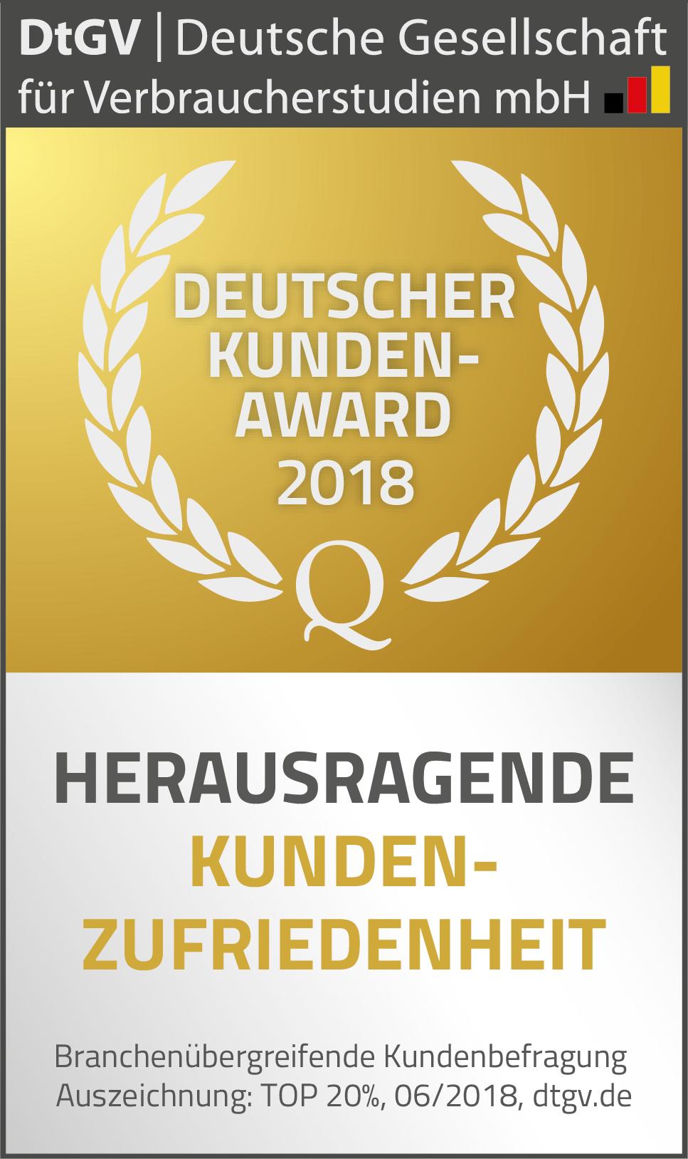 Firmen Weihnachtsgeschenke F303274r Kunden.Deutscher Kunden Award 2018 Dtgv