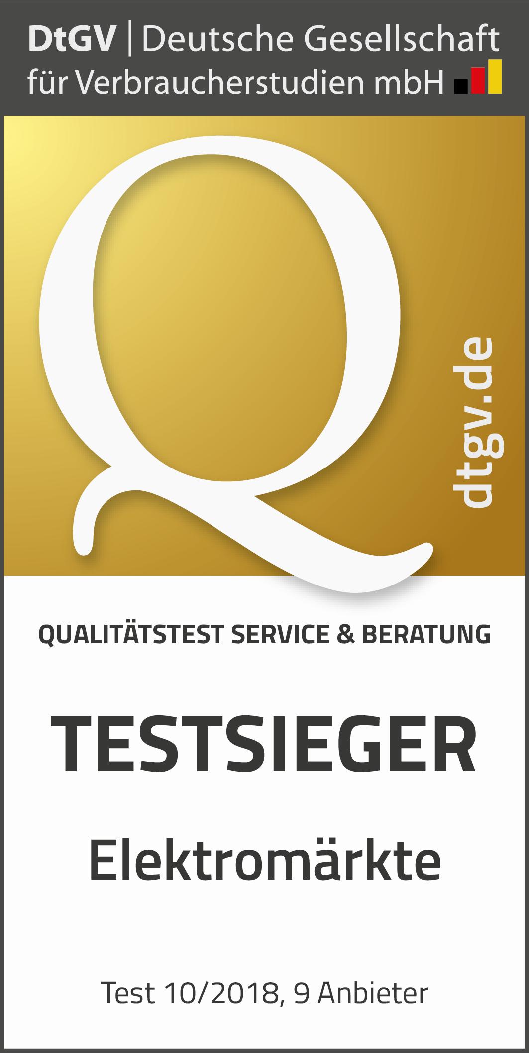 c0bcb2159a73fd Elektromärkte  Test von Service und Beratung - DtGV